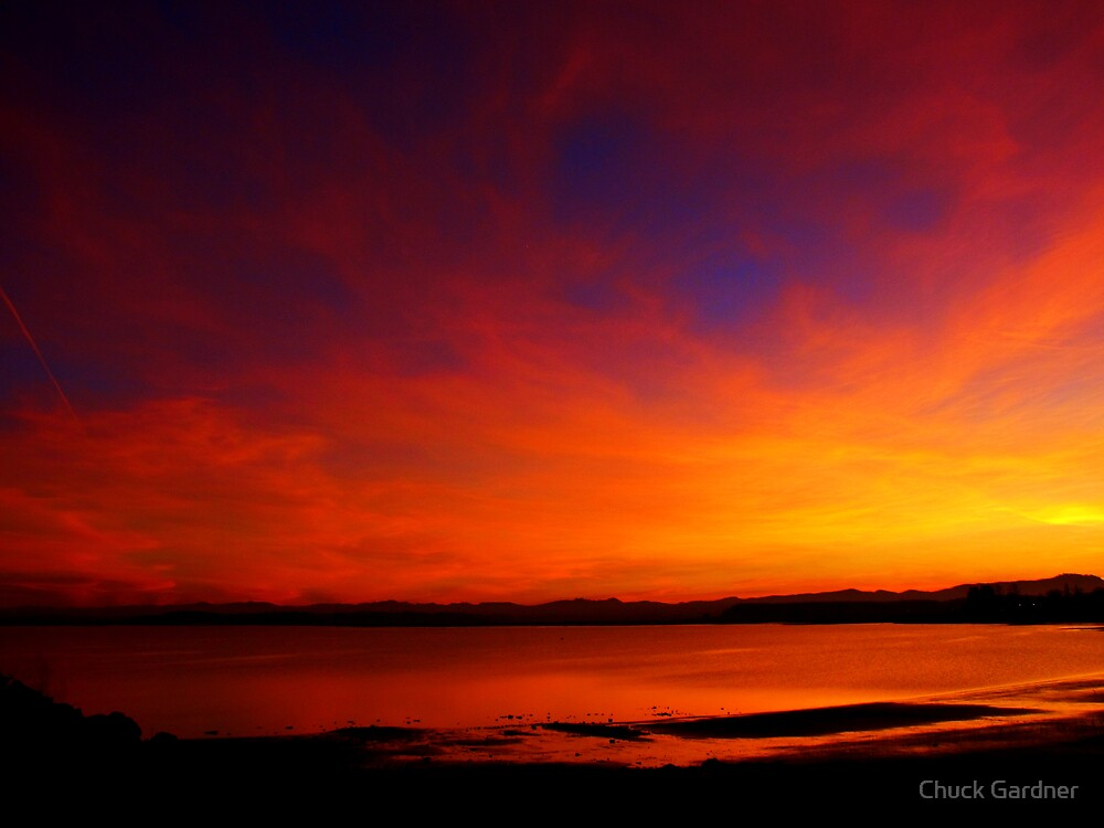 Last Fiery Rays of the Day by Chuck Gardner