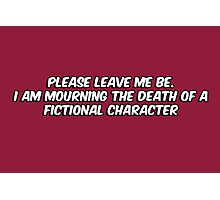 The death of a fictional character Photographic Print