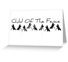 Child Among the Fence Greeting Card