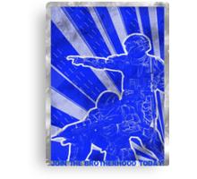 FC BLUE Army Propaganda (Weathered) Canvas Print