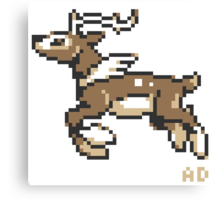 8-Bit winter Sawsbuck Canvas Print