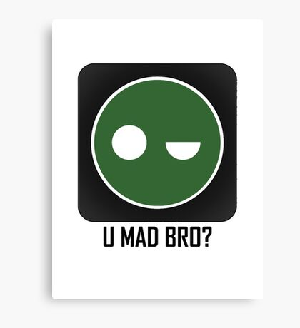 Superintendent U MAD BRO? (Winking SI) Canvas Print