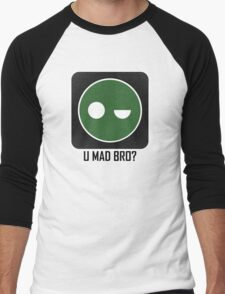 Superintendent U MAD BRO? (Winking SI) Men's Baseball ¾ T-Shirt