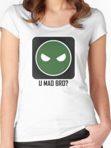 Superintendent U MAD BRO? Women's Fitted Scoop T-Shirt