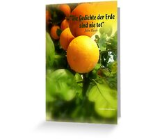 ORANGERIE Greeting Card