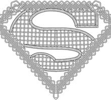 Celtic Superman Logo Black no fill by Adamasage