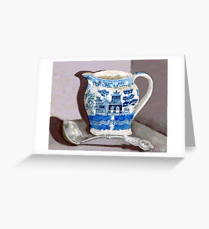 Blue Willow Greeting Card