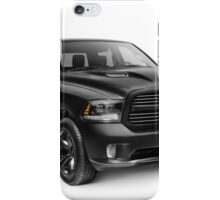 Black 2015 Dodge RAM 1500 4x4 pickup truck art photo print iPhone Case/Skin