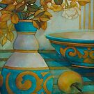 still life turquoise by elisabetta trevisan