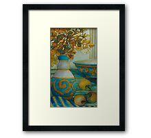 still life turquoise Framed Print