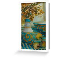 still life turquoise Greeting Card