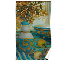 still life turquoise Poster