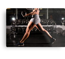 Exercise with Lunges with dumbbells Metal Print