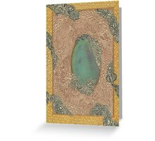 Yellow Pattern - The Qalam Series Greeting Card