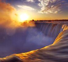 Niagara Falls beautiful sunrise scenery art photo print by ArtNudePhotos