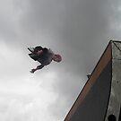 Flying Roller Skater by Harry Roberts