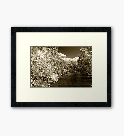 Fall On Little River  Framed Print