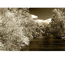 Fall On Little River  Photographic Print