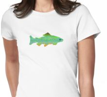 Artistic Trout Teeshirt Womens Fitted T-Shirt