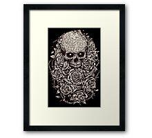 Skull & Roses Framed Print