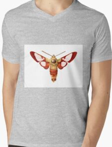 Hummingbird Clearwing Moth Mens V-Neck T-Shirt