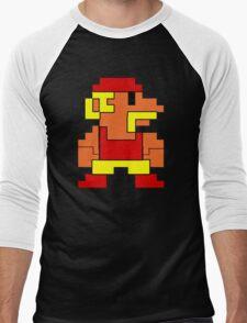 8 bit wrestler Men's Baseball ¾ T-Shirt