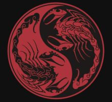 Red and Black Scorpions Yin Yang  Kids Clothes