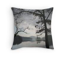Morning On Lake Glenville, North Carolina Throw Pillow