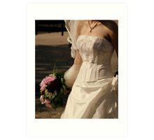 Wedding dress details Art Print