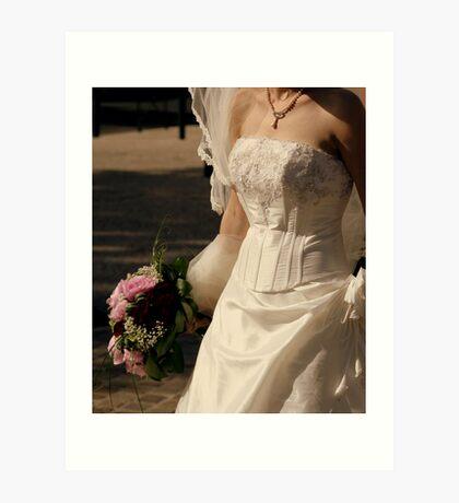 Wedding dress details Art Print