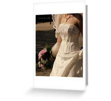 Wedding dress details Greeting Card