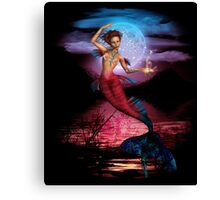 Magical Mermaid Moon Canvas Print