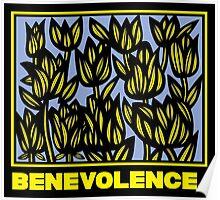 Shreeve Flowers Yellow Blue Black Poster