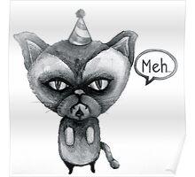 party poop grumpy cat Poster