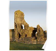 Pevensey Castle, Sussex, England Poster