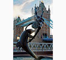 Girl with a Dolfin at Tower Bridge, London, England Unisex T-Shirt