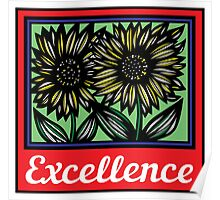 Oyler Flowers Yellow Red Blue Poster