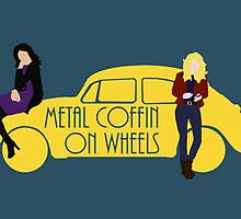 Metal Coffin On Wheels by OliveTreeHouse