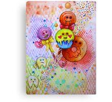 sugar rush scary candy  Canvas Print