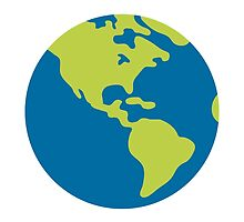 Earth Globe Americas Google Hangouts / Android Emoji by emoji