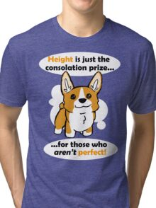 Height is just a consolation prize Tri-blend T-Shirt