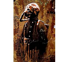 Gas Mask Graffiti Photographic Print