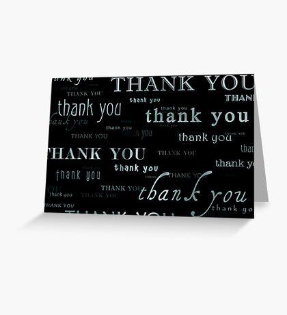 thank you : again and again Greeting Card