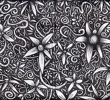 Flowers black & white by blucy
