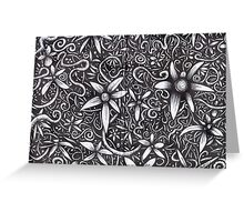 Flowers black & white Greeting Card