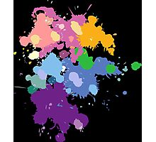 Colorful Splatter  Photographic Print