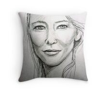 Cate Blanchett Throw Pillow
