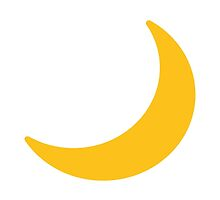 Crescent Moon Google Hangouts / Android Emoji by emoji