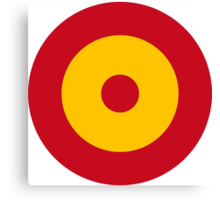 Roundel of the Spanish Air Force Canvas Print