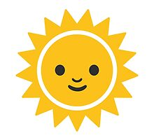 Sun With Face Google Hangouts / Android Emoji by emoji
